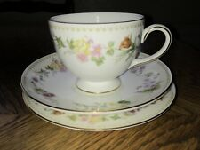 Vintage Wedgwood Mirabelle Tea Trio, Plate, Cup And Saucer VGC