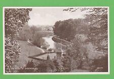Vintage postcard.The River at Shrewsbury, Shropshire