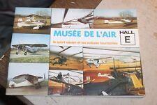 Brochure MUSEE DE L AIR DU bourget le sport aerien et les voitures tournantes