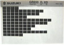 Suzuki GR650 Tempter 1983 Parts Microfiche s358