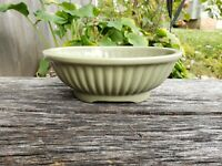 "Vintage Haeger USA Planter- 8"" Avocado Green-Excellent Condition-Stamped"