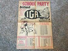 Joyland Amusement Park Kansas Back to School Party poster rare vintage