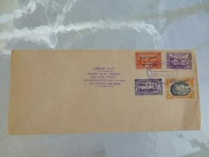 1945 Manila Philippines LABOR DAY WWII First Day Cover FDC Victory Stamps