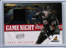11/12 PINNACLE JEFF SKINNER GAME NIGHT JERSEY CARD #42 CAROLINA HURRICANES