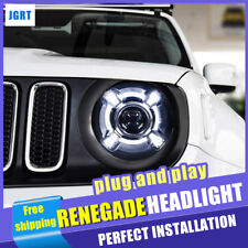 Headlights assembly For Jeep Renegade 2015-2020 xenon Lens Projector LED DRL