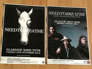 Needtobreathe - Collection of Scottish tour Glasgow show concert gig posters x 2