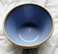 VINTAGE BLUE USA STONEWARE BOWL #6  NICE PATTERN