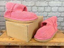 Livs Femmes UK 6 Rose Crocheted Bottes