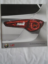 Alfa Romeo price list brochure Jul 2010