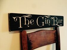 Gin Bar Tonic Sign Plaque Vintage Old Style Party Birthday Kitchen Drinks Pub