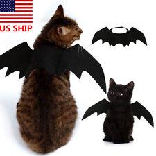 Halloween US! Black Bat Wings Vampire Pet Dog Cat Costume  Dress Up Cosplay Prop