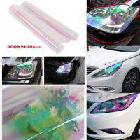 Car Headlight Tint Film Transparent Chameleon 1pc 30 x 210cm Fog Tail Light Wrap