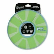 Chuckit Max Glow Zipflight with Rubber Rim and Liner - 21cm - Medium