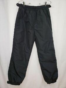 Columbia Large Ski Snow Pants Women's Black Nylon Insulated Pocket Snap Ankle