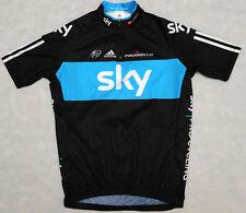 SKY PINARELLO - ADIDAS 3 STRIPES - genuine HIGH QUALITY cycling BLACK JERSEY - M