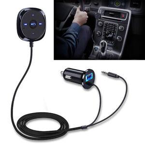 Per auto Aux Vivavoce Adattatore Bluetooth Speaker Smartphone USB 3.5mm