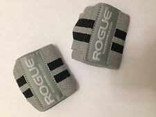 """Rogue Fitness Wrist Wraps, Short 12"""", Gray, Power/Weight Lifting, Crossfit, WOD"""