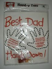 T-Shirt Hand-y Tees Best Dad Hands Down Print Hands Size XL NWOT sealed bag Gift