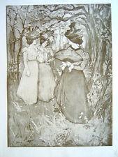 Estampe, ROBBE Manuel (19-20e), Elégantes au bois