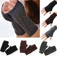 Fashion Women&Men's Gloves Arm Warmer Long Fingerless knit Mitten Winter Unisex