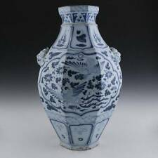 CHINESE BLUE AND WHITE WARES YUAN-STYLE VASE PORCELAIN PHOENIX CERAMICS POTTERY