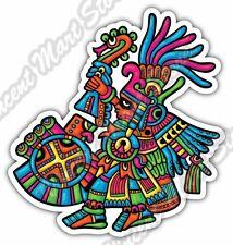 "Maya Civilization Mayan Art Aztec Drummer Car Bumper Vinyl Sticker Decal 4""X5"""