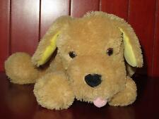 "EUC 11"" Mary Meyer Puppy Dog Plush Stuffed Animal Tan Yellow Lab Foam Microbeads"