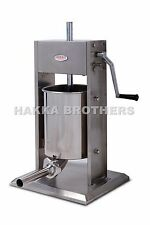New Hakka 33LB Sausage Stuffer Vertical Stainless Steel 15L Meat Filler SV-15
