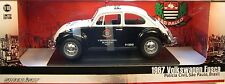 GREENLIGHT 1:18 SCALE DIECAST METAL BRAZIL POLICE BLACK AND WHITE 1967 VW BEETLE