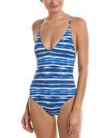 La Blanca Women's Bamboo Macrame One-Piece Swimwear Sz. 4 (Midnight) 140555