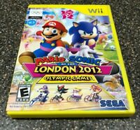 Mario & Sonic at the London 2012 Olympic Games (Nintendo Wii) Complete Free Ship
