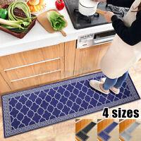2PCS Non-Slip Kitchen Floor Mat Bedroom Room Rug Runner Carpet Home Decor