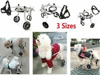 3 Sizes Adjustable Dog Wheelchair for Small Dog Pets Behind legs Rehabilitation