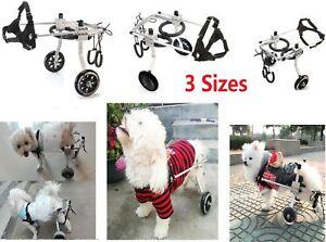 S/M/L 2 Wheels Light Aluminum Pet Dog Wheelchair For Handicapped Dog/Cat walk