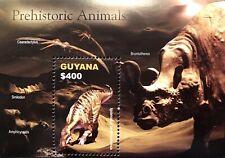 GUYANA DINOSAUR SOUVENIR SHEET 2005 MNH PREHISTORIC ANIMALS IGUANODON STAMPS