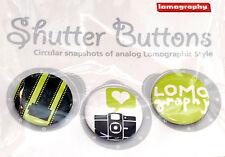 Lomography Shutter Button Set Nr.1 for jacket case bag or collection (NEU/OVP)