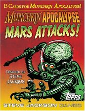 Munchkin Apocalypse Mars Attacks 15 Card Booster Card Game Steve Jackson Games