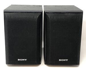 Pair of Sony SS-B1000 Stereo Surround Speakers Black Bookshelf #8980963 AL