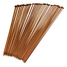 36 Single Pointed Knitting Needles Made of Bamboo Size of 18 Kinds of Carb C4t4 25cm