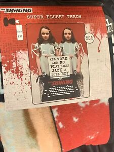 The Shining REDRUM Grady Twins Overlook Hotel Blood Movie Plush Throw Blanket AX