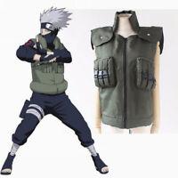 Naruto Hatake Kakashi Hokage NINJA Vest Unisex Costume Cosplay Fancy Coat Casual
