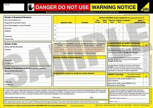 Danger Do Not Use - Warning Notice Pad