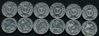 BURUNDI SET 6 COINS 5 FRANCS 5 DIFFERENT BIRDS 2014 UNC
