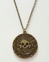 Pirati di il Caraibi Azteco Moneta Teschio Medaglione Collana con Regalo Borsa