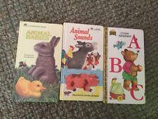 Golden Sturdy Book# 1980s vintage Animal Sounds Babies ABC