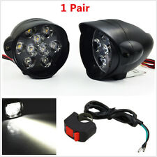 1 Pair 30W Universal LED Motorcycle Headlight Lamp Moto Scooters Fog Spot Lights