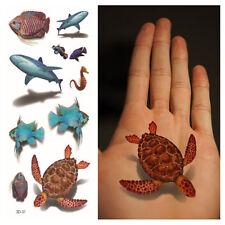 3D Tatuaggio Temporaneo 19x9cm resistente all'acqua New Collezione (3D-31)