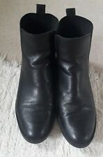 Oasis Black Leather Ankle Riding Boots size 40