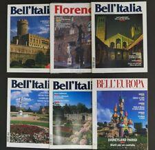 Bell'Italia Magazine x 6 Issues Italian Travel Vintage Art History 1997 1998