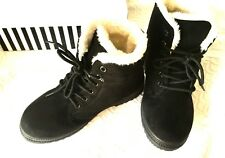 EO3 FAB & COSY SUEDE/LEATHER INSULATED ANKLE BOOTS, SZ 38(7), WORN TWICE,RRP$350